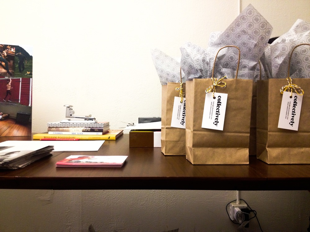 Gift bags filled with goodies to take home.