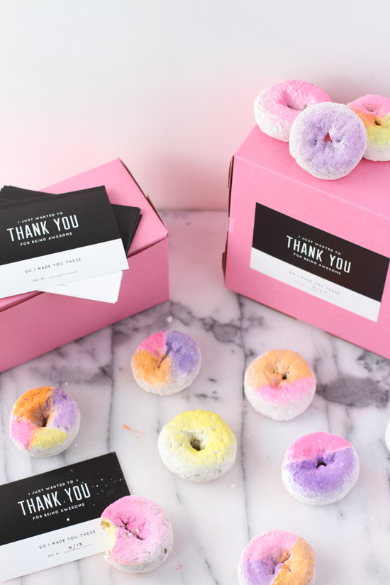 Thank you labels to send out boxes of home baked goods by Paper & Stitch