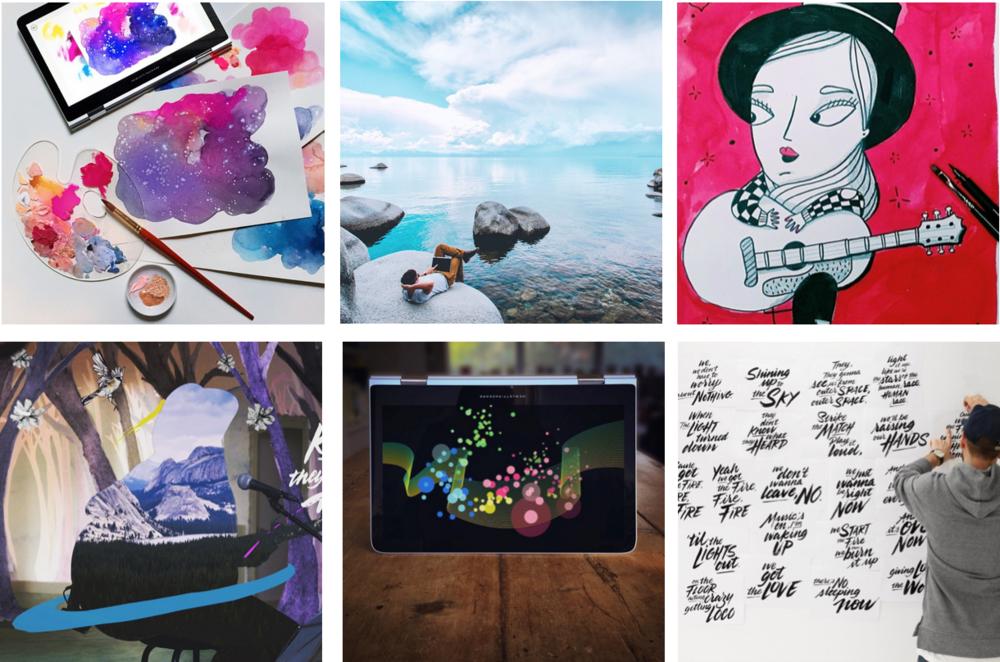 Clockwise from upper left: Paper Fashion, Jordan Herschel, Amaia Arrazola, Tyrsa, Mike Kus, Gabriel Moreno.